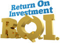 Big gold ROI Return On Investment words