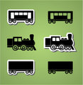 Train and wagon silhouets