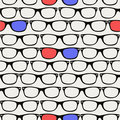 Hipsters retro 3D Glasses seamless pattern.