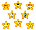 Emotional star icons