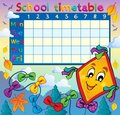 School timetable thematic image 8