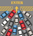 Cars traffic Enter join busy site