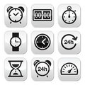Time, clock vector buttons set