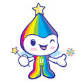 Flexibility as possible a Rainbow Mascot. Dream of Fairy Charact