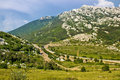 Velebit mountain Prezid pass green landscape