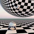 Checkered Surreal Horizon