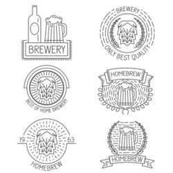 set of badges labels design elements and templates in trendy