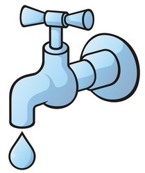 Tap dripping stock vector