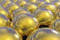 3d Reflective Gold Spheres