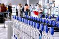 Passengers carts airport