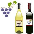 Grape vineyard symbol with red