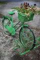 Vintage Bicycle Painted Green
