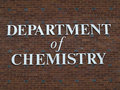 Department of chemistry sign
