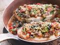 Baked Sicilian Swordfish in a Copper pan