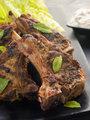 Spiced Lamb Chops with Raita - Chaamp Lajawab