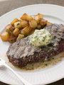 Entrecote de Beouf' with Roquefort Butter and Parmentier Potatoe
