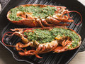Lobster Half Grilled with Garlic and Parsley Butter