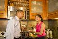 Couple in Kitchen - Horizontal