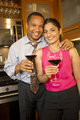 Couple with Wine - Vertical