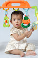 Beautiful asian baby play toy