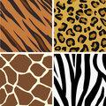 Seamless tiling animal print patterns