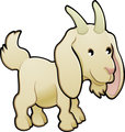 Cute Goat Farm Animal Vector Illustration