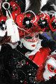 Red-black-white carnival garment