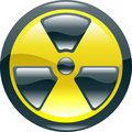 Glossy shint radiation symbol icon