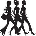 Silhouette of three girls