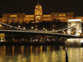 Budapest Chain Bridge and royal palace