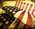 Grunge stars and stripes