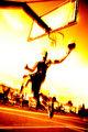 Fiery Basketball Player