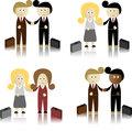 Businessmen ad businesswomen