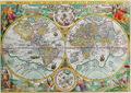 Antique Map of the World Petrus Plancius