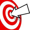 On Target Arrow Copyspace Hits Bulls Eye