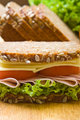 Fresh wholemeal sandwich
