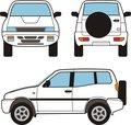 Car - Small Suv, Vector Shapes