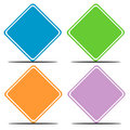 Colorful blank road signs