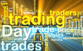 Day trading wordcloud glowing