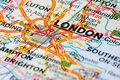 Road map around London