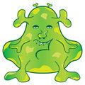 Green Monster Cartoon Character