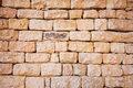 Natural stone brick wall