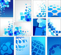 Geometric blue vector backgrounds