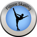 Winter game button figure skating