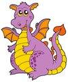 Big purple dragon