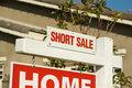 Short Sale Real Estate Sign & New Home
