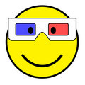 Smiley with 3D glasses