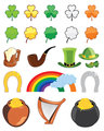 St. Patricks day icon set