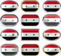 Twelve buttons of the Flag of Syria