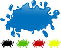 Several colors ink splash. - paint splatter